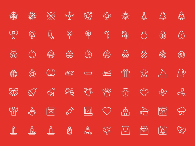 Merry Christmas Outline Vector Icons xmas christmas happy holidays icons vectors outline stroke christmas icons holiday line icons merry christmas icons christmas vector icons