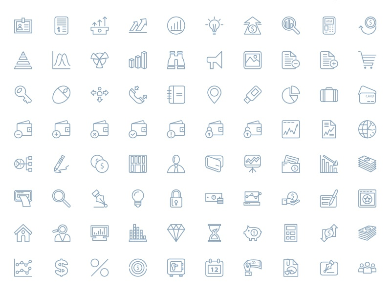 250+ Outline Finance Vector Icons finance banking vector icons outline icons line icons stroke icons web application icons web iconic font photoshop shapes money icons financial icons