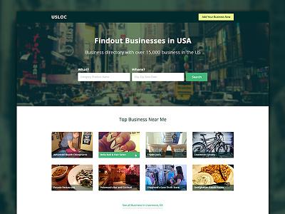 USLOC - Website Landing Page Design web design landing page homepage home page website layout web layout homepage design theme design footer header product design product landing page