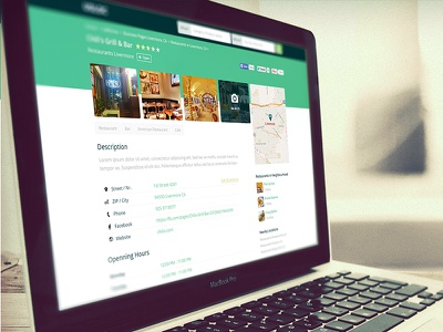 Business Page Web Design - USLOC business page detailed page sub page secondary page detail page design business details website design website layout web layout web design product design digital product
