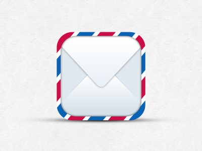 Mail iOS Icon Template freebies psd icon template mail ios
