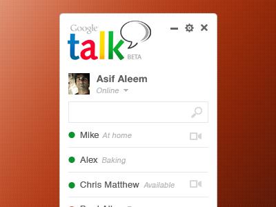 Gtalk Concept Design - (PSD) by Asif Aleem | Dribbble | Dribbble