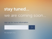 Stay tuned! we are coming soon (PSD)