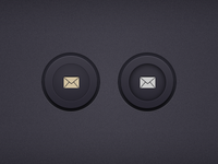 Circular Rounded Buttons (PSD)
