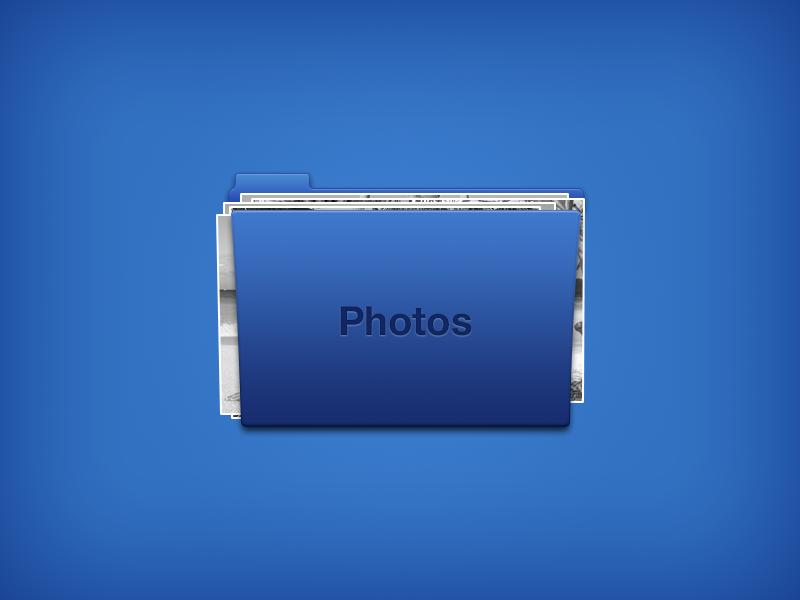Folder Icon (PSD) icon folder psd template photos blue freebie