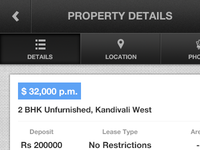 Property Details - App Navigation & Tabs
