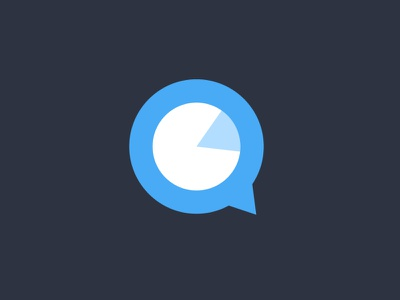 Quick Analytics Logo Design product app logo designer pie corporate identity design branding analytics app analytics logo