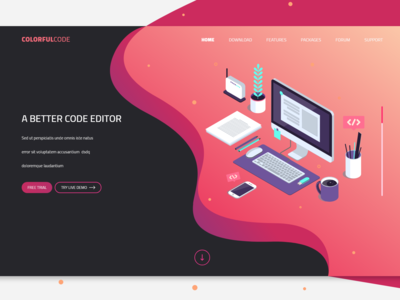 Colorful Landing Page