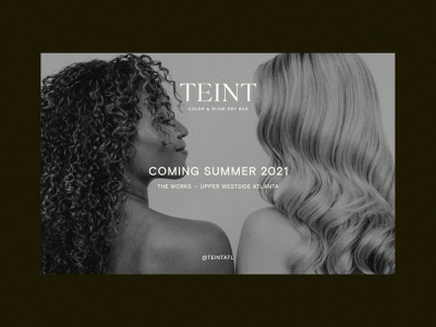 Teint — Coming Soon design art direction art webflow ui layout graphic design branding landing page typography web design website