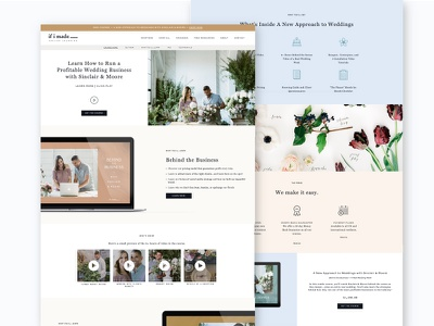 Sinclair + Moore Launch Page typography website web design graphic design web