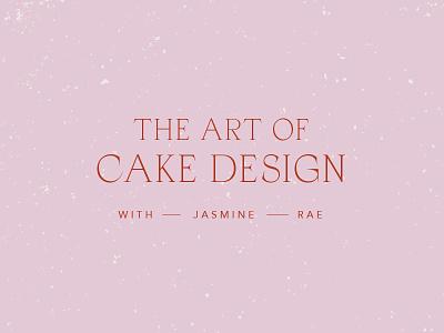 Jasmine Rae texture sans serif serif lockup font typography art direction graphic design logo design logo