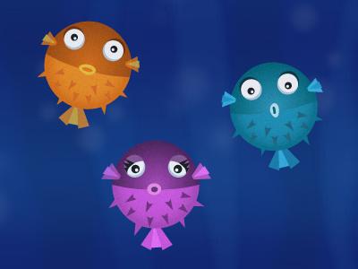 Fishies fish illustration underwater