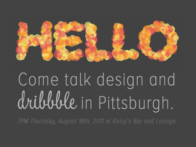 Pittsburgh dribbble meet up #2 meetup canvas web fonts fun  silly pittsburgh