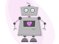 A robot with a big heart