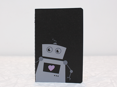 robot notebook screen print robot illustration notebook moleskine