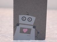 Robot Notebook In Grey