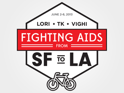 Fighting AIDS T-Shirt Design tshirt aids lifecycle bicycle