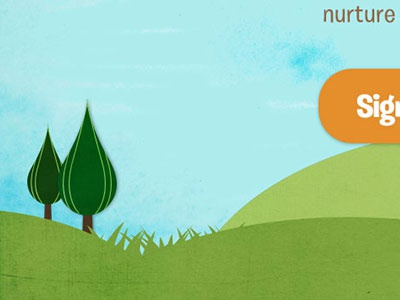 nurture watercolor background simple.