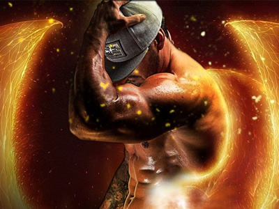 Legendary illustration photo fitness