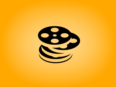 Pile of Movies logo icon positive negative