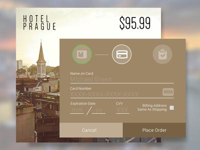 Credit Card Screen - #DailyUI 002