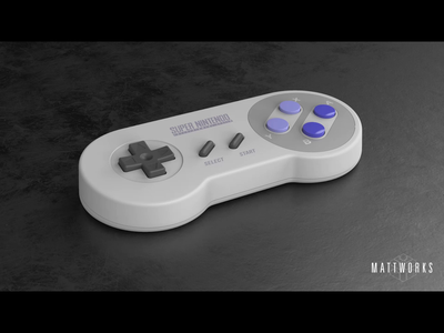 Super Nintendo Controller after effects ae nes super nintendo nintendo keyshot