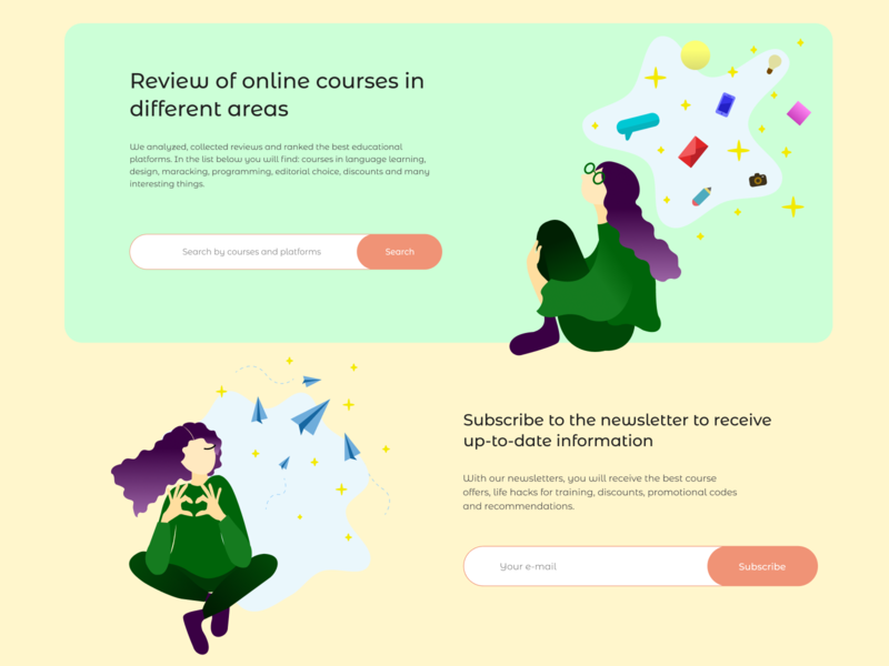 Illustrations for a landing page about an online courses girl illustration contact form vector illustration vector art photoshop search form search subscribe form art vector webdesign illustrator cc online courses landing page landing subscribe illustration art illustration illustrator