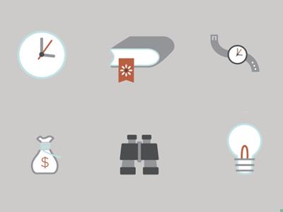 Financial aid icons