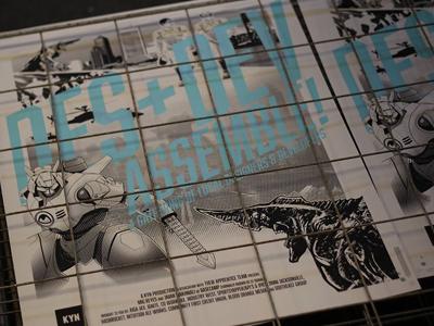 DES+DEV: ASSEMBLE! Posters screen print pacific rim poster robots monster