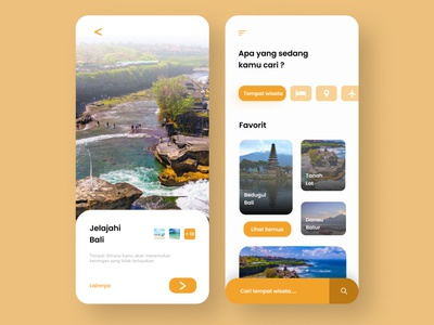 travel exploration android app design android app indonesia bali minimal typography icon ux ui design app