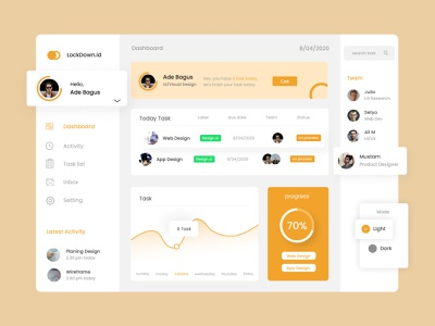 task management - dashboard uiux uxdesign uidesign modern design modern style dashboard design dashboard ui dashboard web typography icon ux ui minimal design