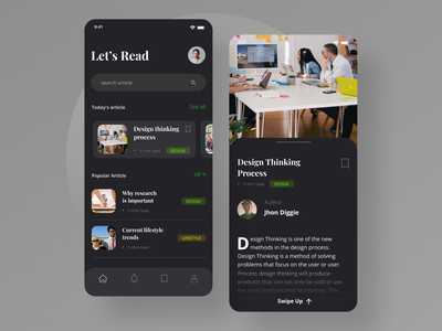 Reading app exploration reading app reading dark ui dark theme dark mode iphone uiux uidesign typography app ui ux minimal design