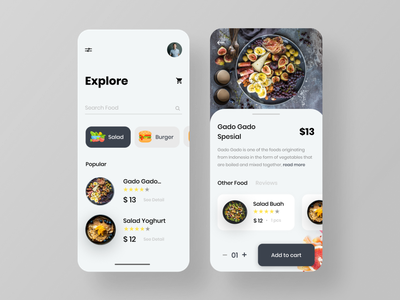 Food delivery app uiuxdesigner uiuxdesign app food delivery uidesign ux ui design food app minimal simple design uiux food