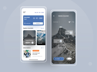 mountain travel app travel modern travel app design travel app clean ui simple design mountain uiux uidesign app ui ux minimal design