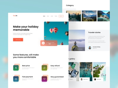 #exploration - Travel booking landing page website design landingpage webdesign website travel uiuxdesign simple design uiux uidesign ui ux design minimal