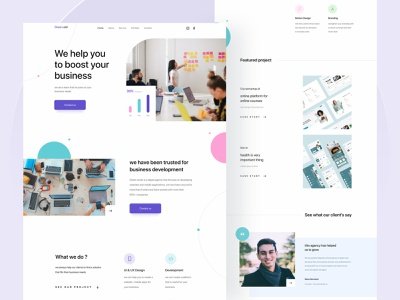 #exploration - Digital agency landing page website design website digital agency agency landing page clean ui designer landingpage agency website agency simple design uiux uidesign ux ui design minimal