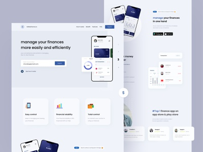 Landing page for personal finance landing page minimalist finance website website design websites finance app finance clean ui simple design app uidesign ux ui design minimal