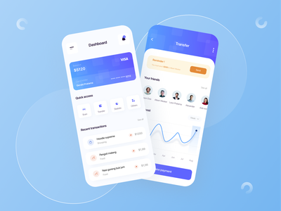#exploration - Finance app v2 blue figma finance app money finance uiuxdesign clean ui simple design uiux app uidesign ux design ui minimal