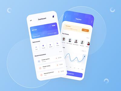 #exploration - Finance app v2 blue figma finance app money finance uiuxdesign clean ui simple design uiux app uidesign ux design ui minimal