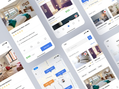 Booking hotel app hotel app hotel booking travel hotel clean ui simple design uiux app uidesign ux design ui minimal