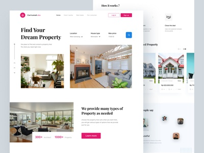 Real estate landing page home landing page real estate website clean ui simple design app uidesign ux design ui minimal