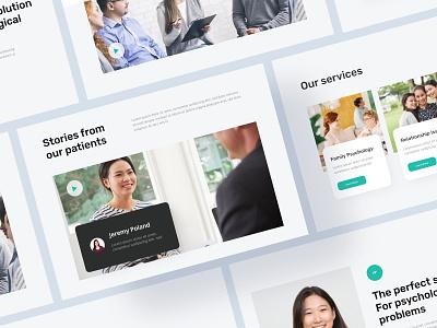MINDZ - Psychology & Counseling Website website design webdesign landingpage health counseling white clean layout website clean ui uiux uidesign design ui minimal