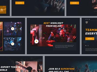 Rhino team - eSport website match web design gamer uiux homepage dark theme website design team webdesigner website esport webdesign uidesign design ui minimal