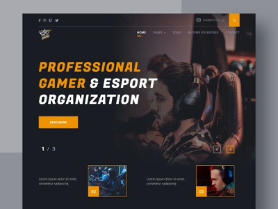 Rhino team - Hero Section hero section game esports dark mode web design website design website simple design ui ux uiux uidesign design minimal