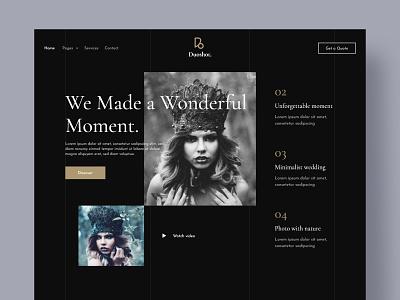 Duoshot Dark Theme Homepage - Photography website photography website classic vintage design homepage dark ui dark theme photographer photography website uidesign design ui