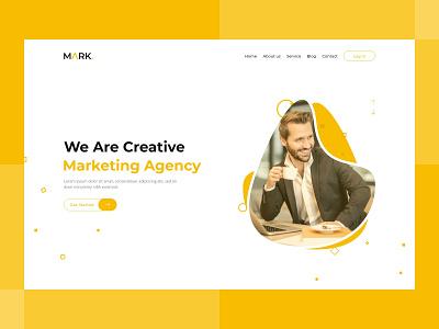 Marketing Agency Web Landing Page illustration app logo marketing agency web landing page website design clean ui design ux ui