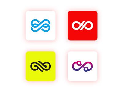 INFINITY Logo Concept design app hello dribbble clean ui design ui ux illustration branding logo