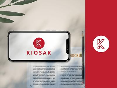 """K"" Letter Logo Concept ui dribbble clean ui design ux web icon vector illustration branding logo"