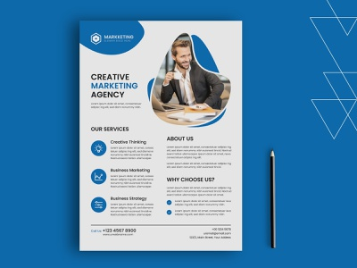 Corporate Flyer clean ui design flat dribbble design icon print design flyer vector logo branding illustration