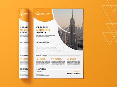Corporate Flyer dribbble typography icon businesscard brochure design print design flyer design design vector illustration branding logo